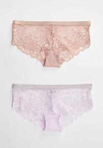 Lace Hipster Panty Set
