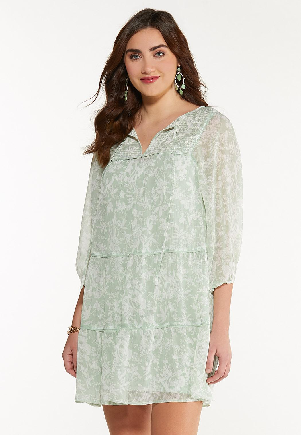 Smocked Green Dress