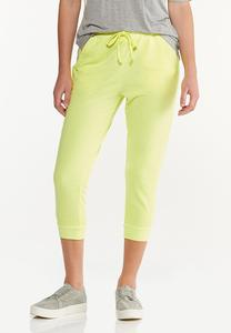 Cropped Lemon Lime Joggers