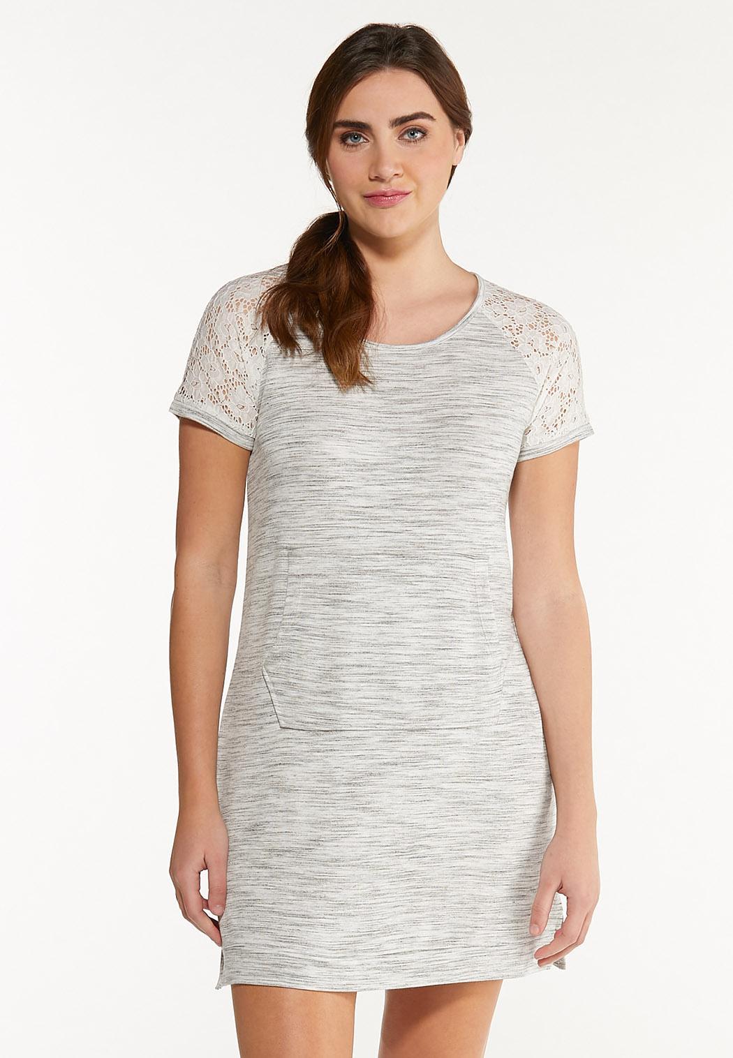 Casual Lace Trim Dress