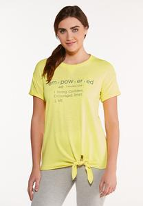 Plus Size Empowered Knotted Tee