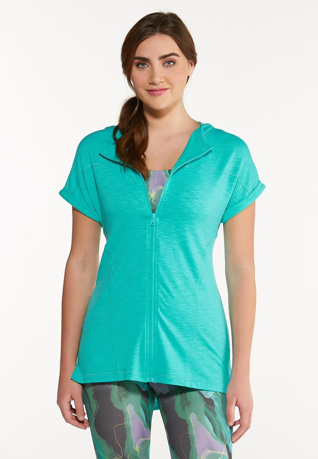 French Terry Zippered Top
