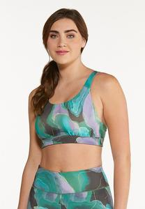 Plus Size Abstract Sports Bra