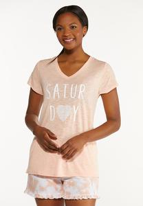 Plus Size Comfy Saturday Tee