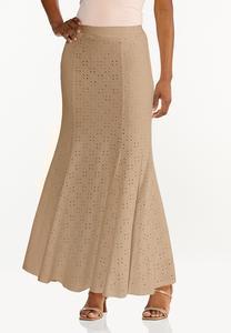 Plus Size Eyelet Mermaid Skirt