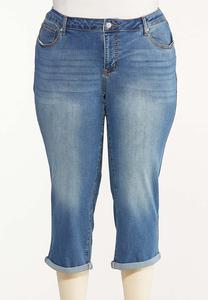 Plus Size Curvy Cropped Skinny Jeans