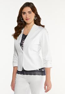 Solid Sateen Blazer