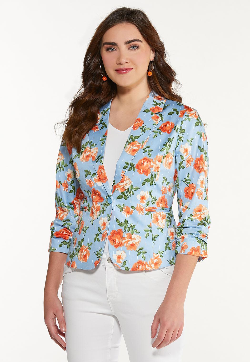Blue Floral Blazer