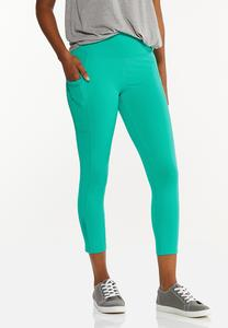 Cropped Turquoise Leggings