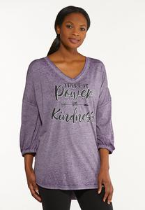Plus Size Power In Kindness Tunic Top