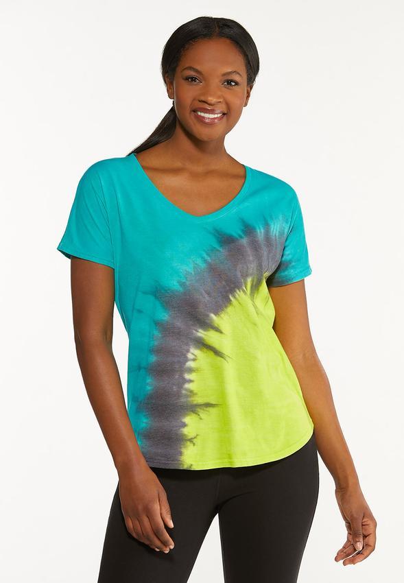 Plus Size Tie Dye Tee Shirt