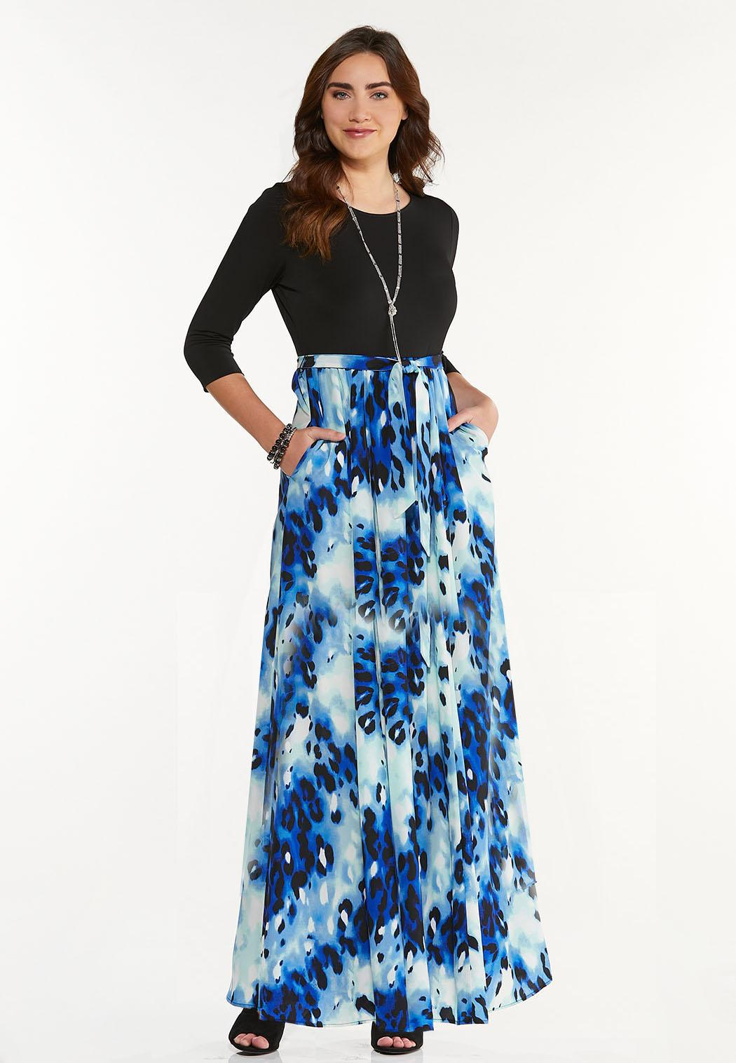 Plus Petite Sky To Sea Maxi Dress