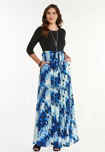 Plus Petite Sky To Sea Maxi Dress