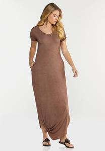 Knotted Tee Maxi Dress