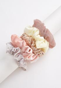 Fabirc Mix Scrunchie Set
