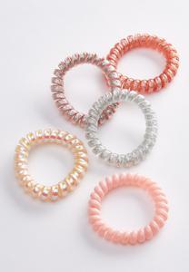 Glitter Spiral Ponytail Cord Set
