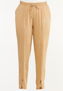 Plus Size Split Ankle Utility Pants
