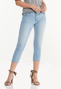 Cropped Lightwash Skinny Jeans
