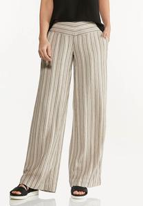 Neutral Stripe Linen Pants