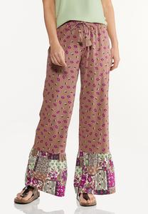 Floral Patchwork Pants
