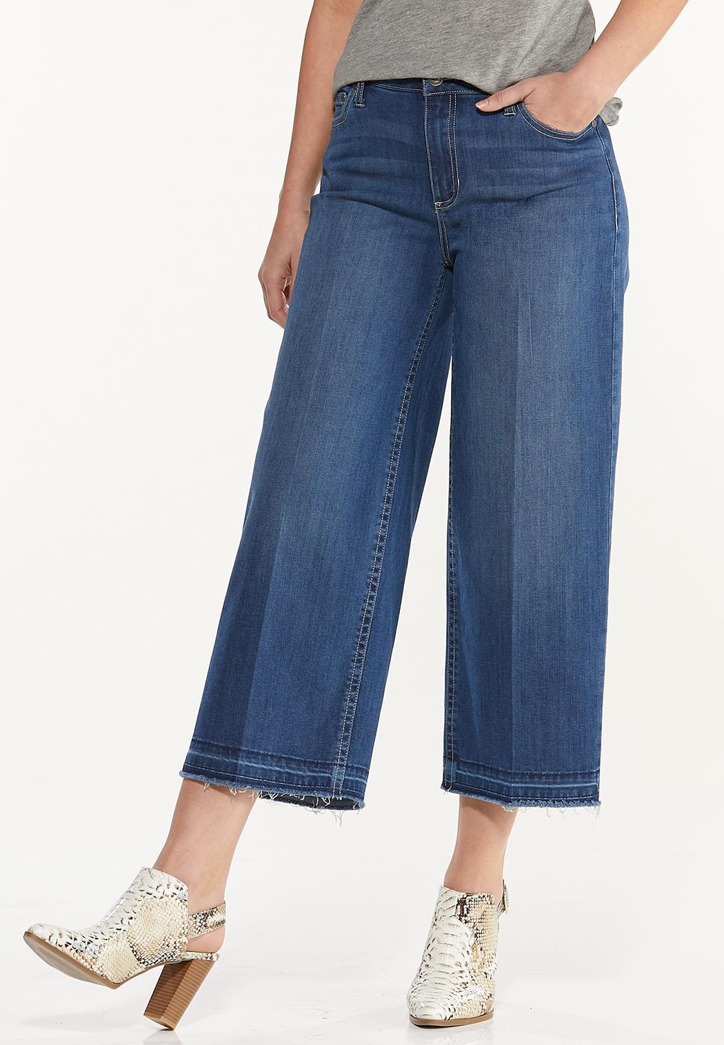 Cropped Released-Hem Jeans