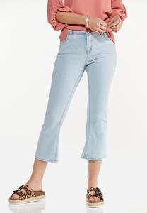 Cropped Lightwash Flare Jeans
