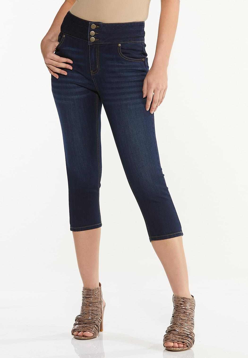 Cropped Triple Button Jeggings