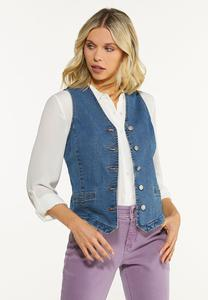 Fitted Denim Vest
