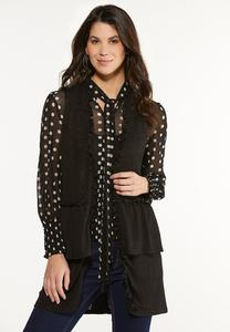 Plus Size Tiered Ruffled Vest