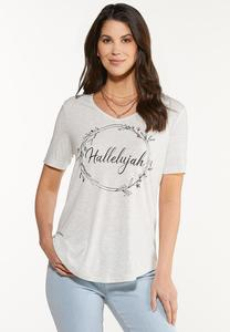 Plus Size Hallelujah Wreath Tee