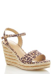 Leopard Roped Wedges