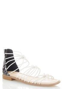 Snakeskin Heel Gladiator Sandals