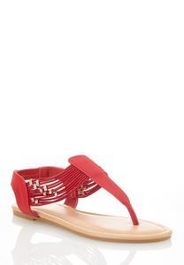 Embellished Stretch Thong Sandals