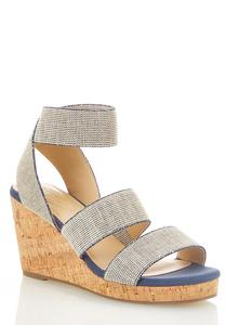 Wide Width Stretch Band Cork Wedges