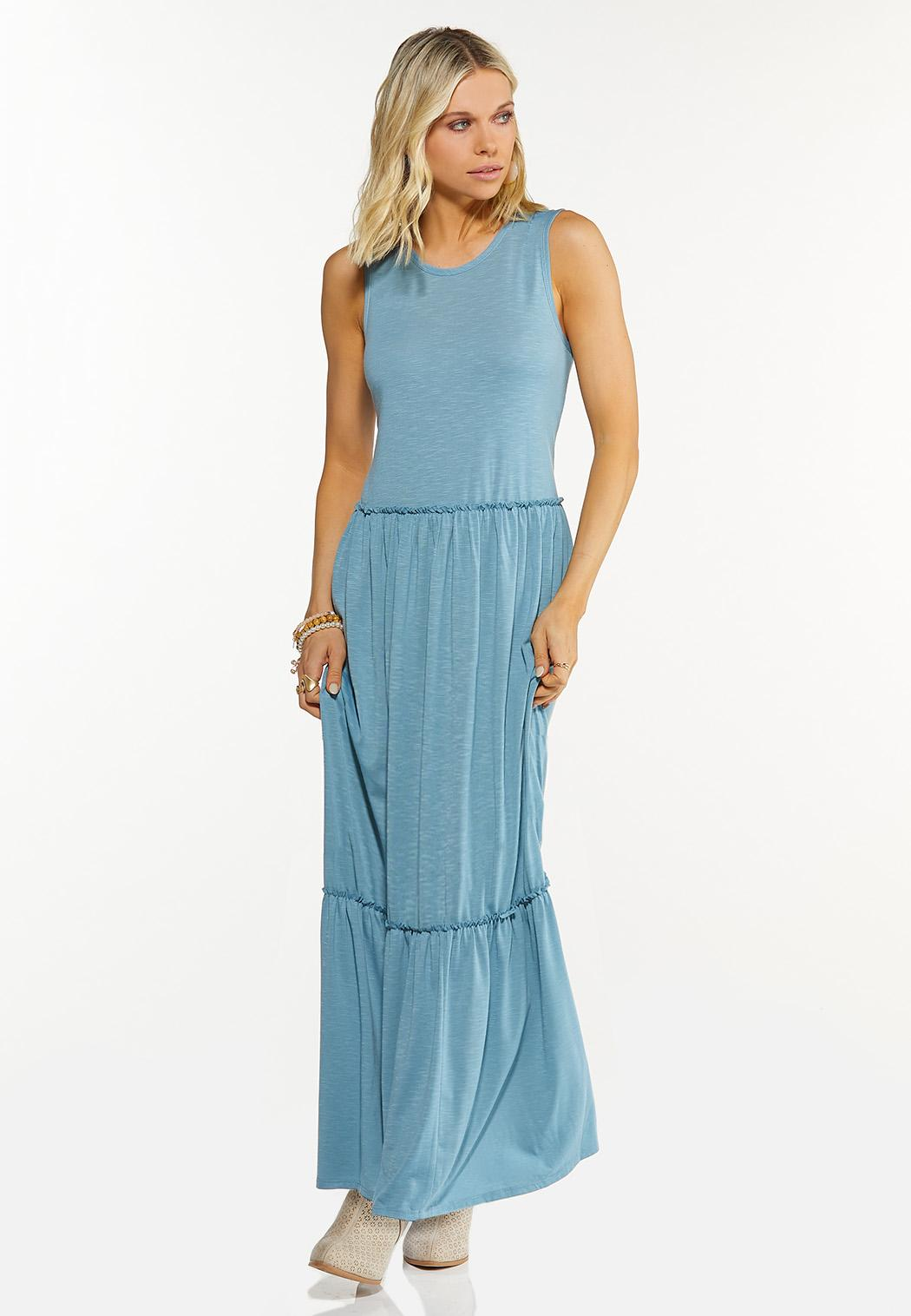 Solid Tiered Maxi Dress