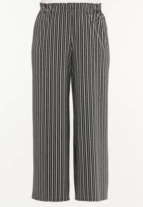 Plus Size Textured Stripe Pants