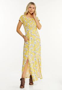 Petite Smocked Daisy Maxi Dress