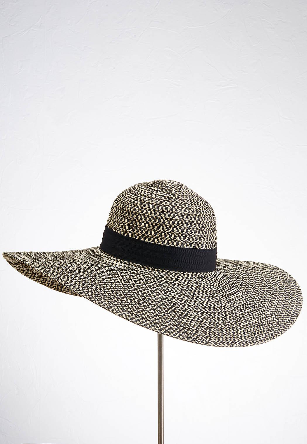Black And Tan Floppy Hat