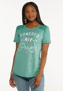 Plus Size Powered By Prayer Top
