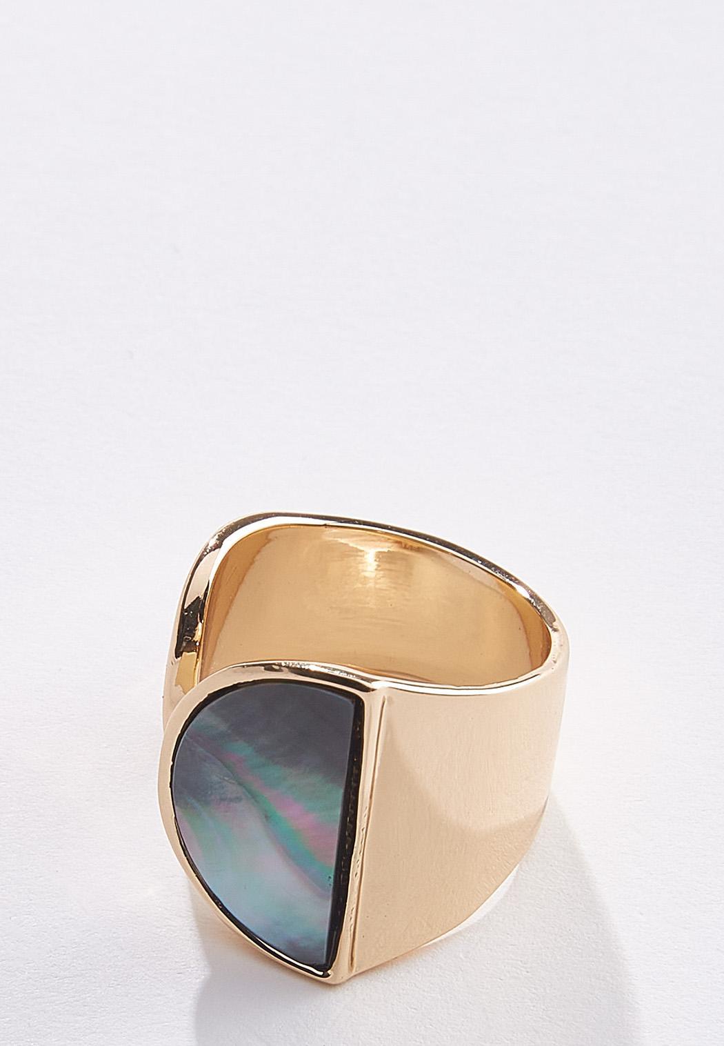 Half Circle Gold Ring