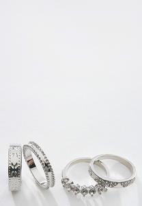 Mixed Silver Ring Set