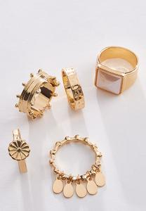 Charm Stackable Ring Set