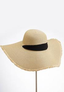 Neck Tie Fringe Floppy Hat