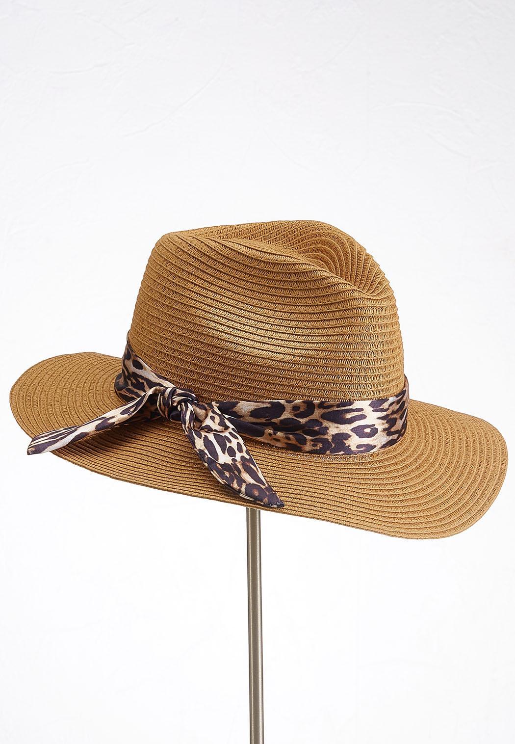 Leopard Band Panama Hat