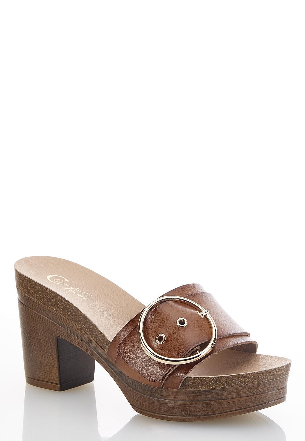 Buckle Band Platform Sandals