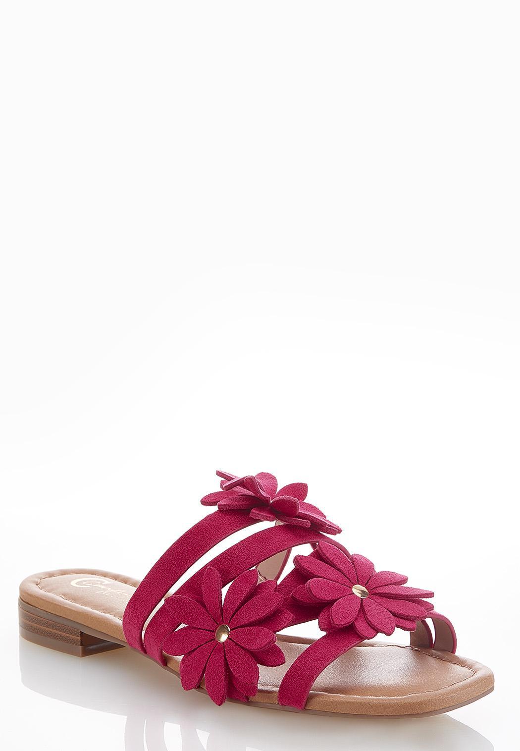 Wide Width Blooming Flower Slide Sandals
