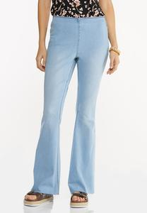 Pull-On Flare Jeans