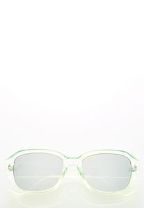 Green Mirrored Sunglasses