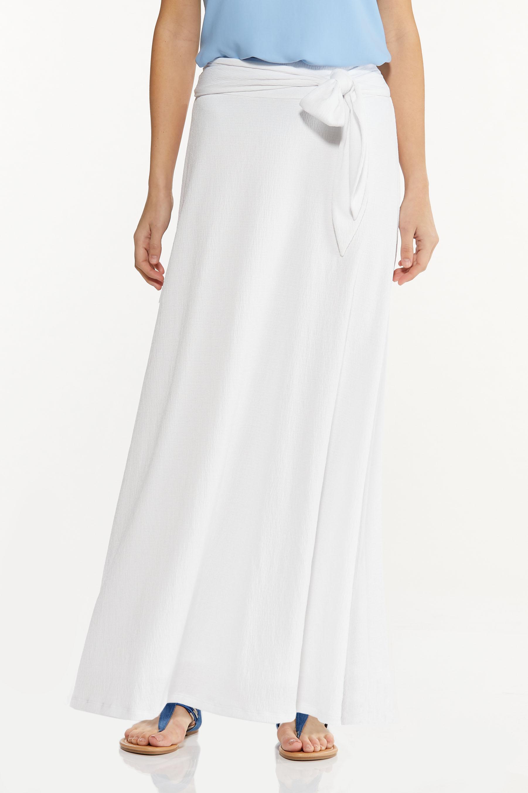 Gauze Tie Waist Maxi Skirt