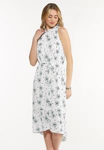 Plus Size Dotted Daisy Midi Dress